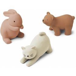 3 jouets pour le bain | Chat rose