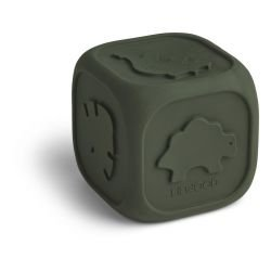 Cube en caoutchouc | Vert foncé