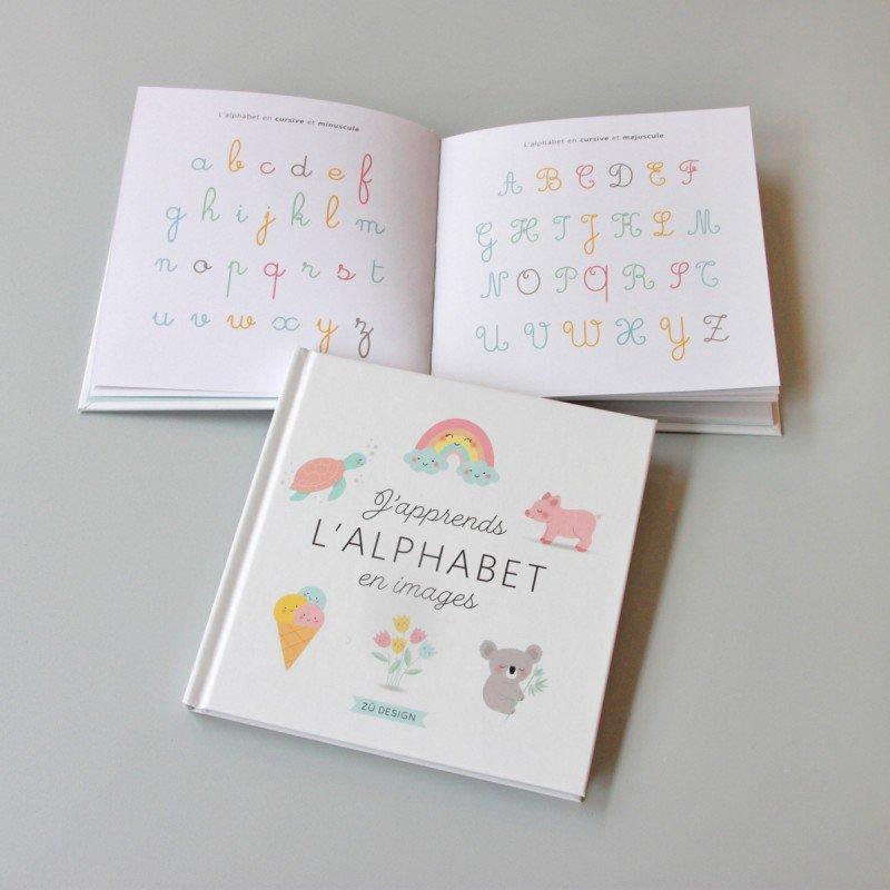 Pages du livre J'apprends l'alphabet en images Zü