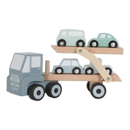 Camion de transport bleu