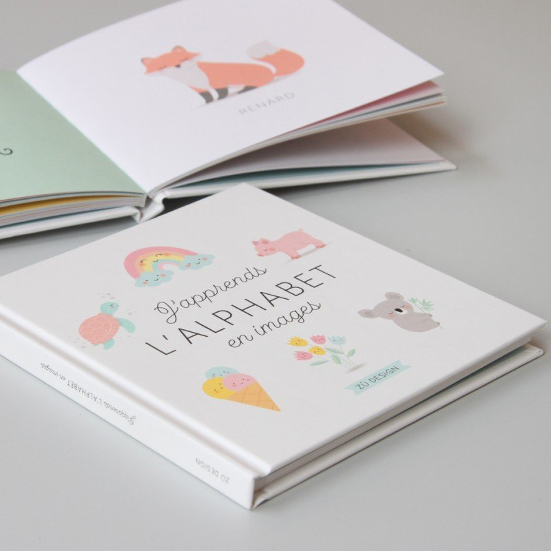 Livre ouvert J'apprends l'alphabet en images Zü