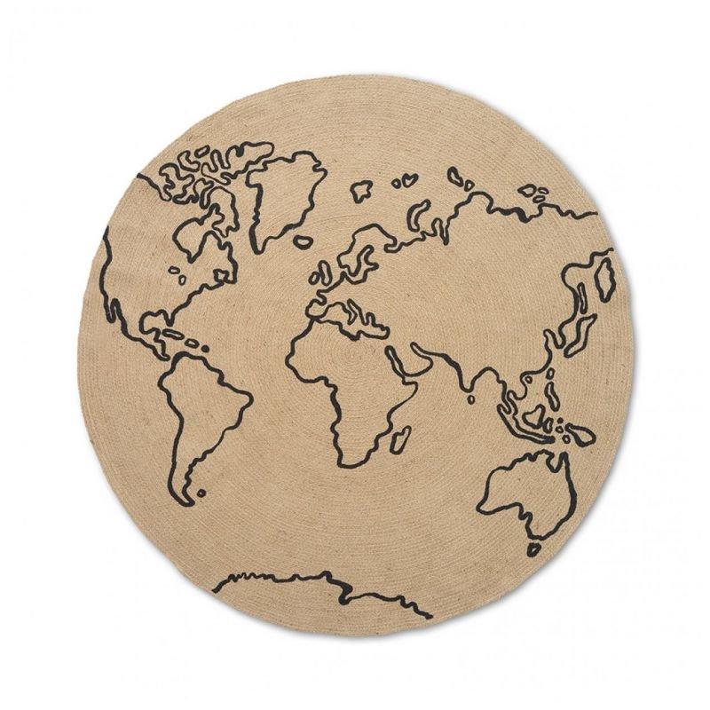 Tapis rond en Jute | World