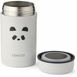 Grand pot alimentaire isotherme | Panda gris