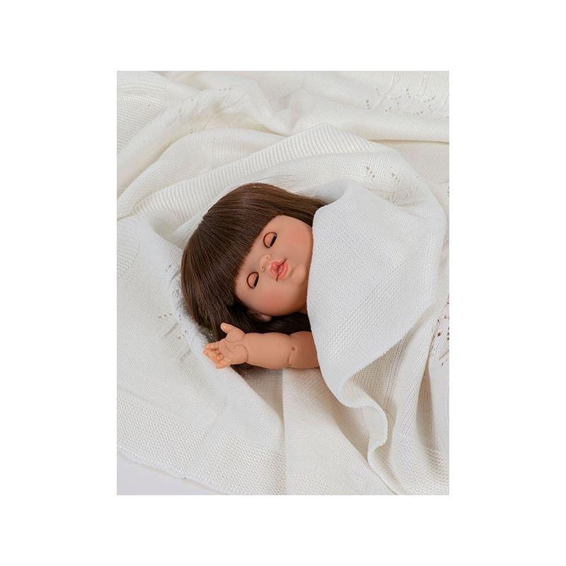 Poupée fille brune Chloé aux yeux dormeurs par Paola Reina dans couverture