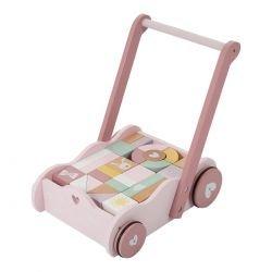 Chariot à blocs | Rose par Little Dutch