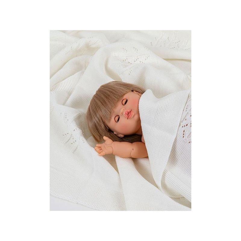 Poupée fille Blonde Zoé aux yeux dormeurs par Paola Reina dans couverture