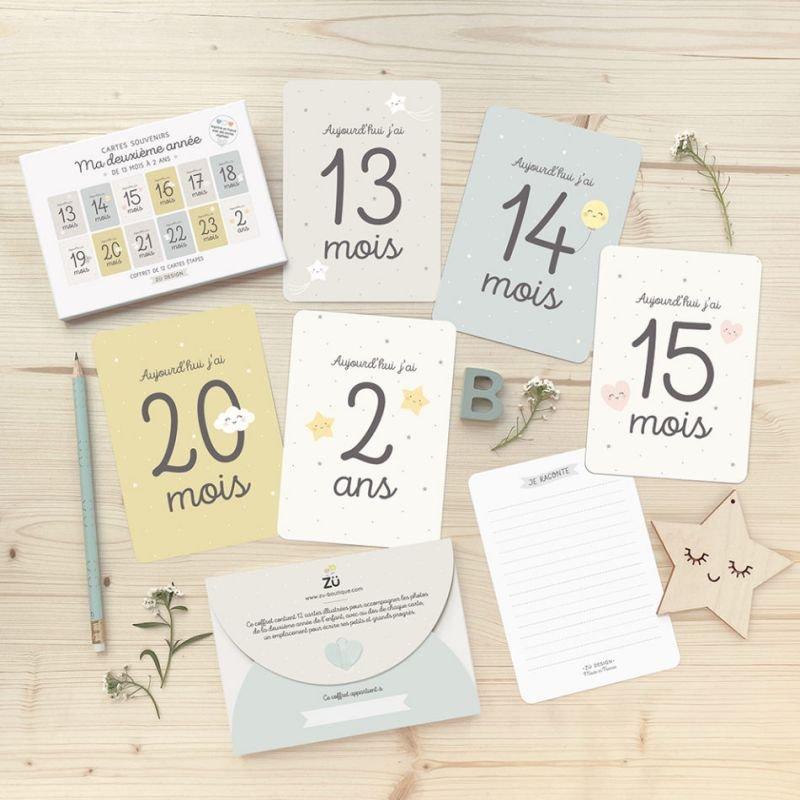 Kit de cartes souvenirs de bébé   13 à 24 mois