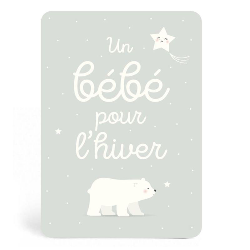 Carte Un bébé pour l'hiver - Zü