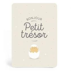 Carte de naissance Petit trésor par Zü