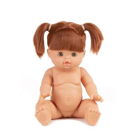 Poupée fille rousse Gabrielle aux yeux dormeurs par Paola Reina
