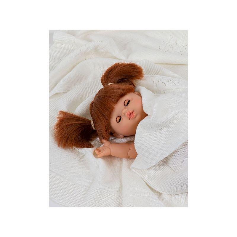 Poupée fille rousse Gabrielle aux yeux dormeurs par Paola Reina dans couverture