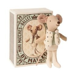 Petit frère souris danseur dans sa boite par Maileg avec boite