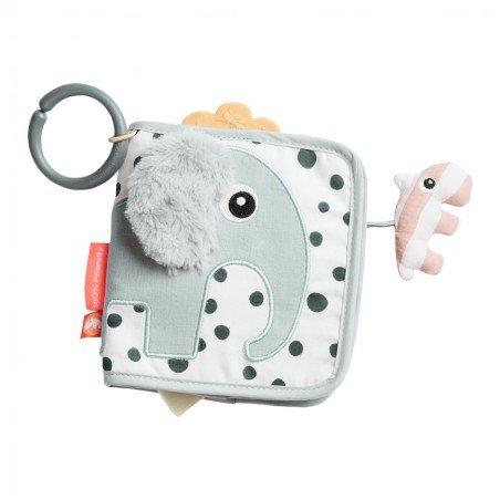 Livre sensoriel pour bébé en forme d'éléphant par Done by deer