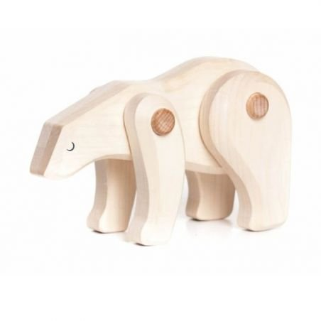 Ours polaire en bois articulé par Bajo