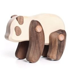 Panda en bois articulé par Bajo