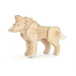 Loup en bois articulé par Bajo