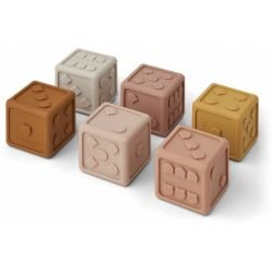 Petits cubes en silicone | Rose mix par Liewood