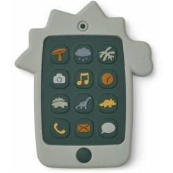 Téléphone en silicone à mâchouiller | Dino vert par Liewood