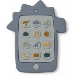 Téléphone en silicone à mâchouiller | Dino bleu