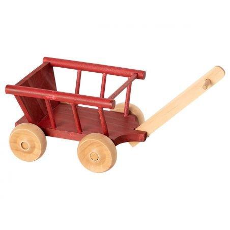 Petit chariot pour souris rouge par Maileg