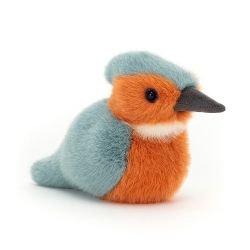 Doudou petit oiseau | Bleu et orange
