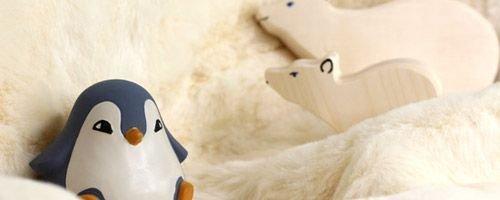 Thème banquise : jouets, décoration, peluches et livres