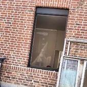Vous le voyez en passant ? Les fenêtres sont en train d'être posées 😃 Je suis restée sur des huisseries en alu noir. Cette association avec la brique j'adore. Malgré la chaleur, les travaux avancent. J'ai hâte j'ai hâte 🙈 Je vous montre ça fin août !? #travauxrenovation #conceptstore #boutiquepourenfant #villedehem #lille #villeneuvedascq #littlececile